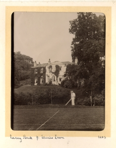 The tennis lawn in the early 1900s, this photo was taken by Robert Alexander Greg