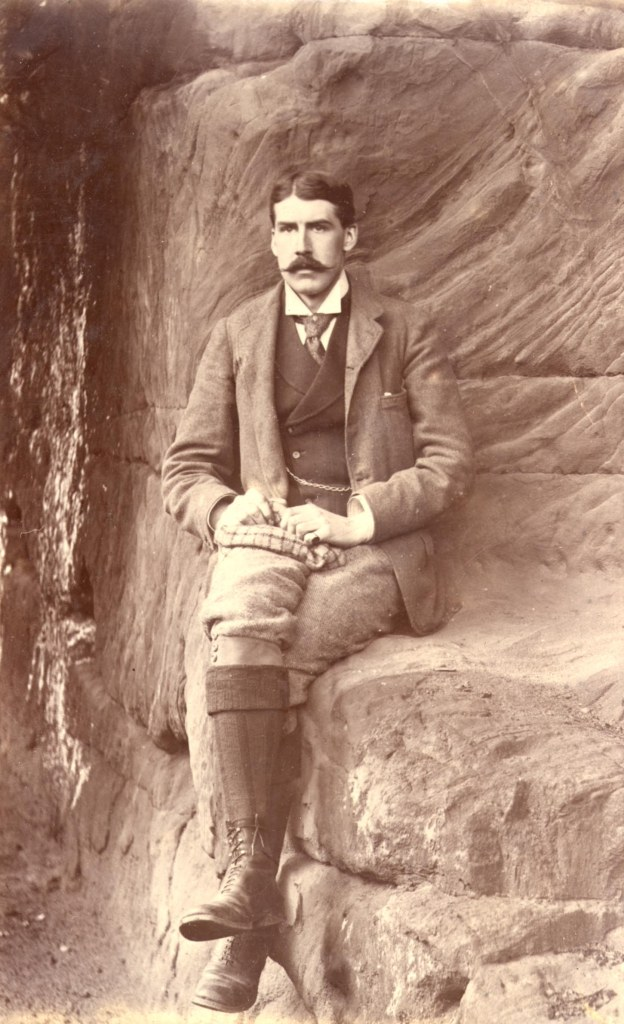 Robert Alexander Greg in the cave in Quarry Bank gardens