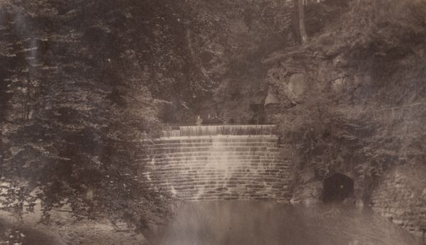 19th Century view of the weir